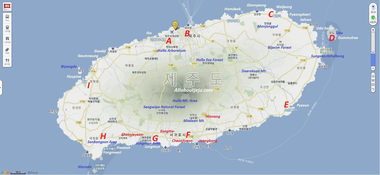 Itineraries  All about Jeju Island