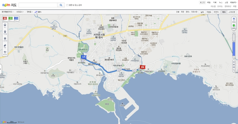 Take a taxi from Chunjiyeon to Jeongbang( $4)