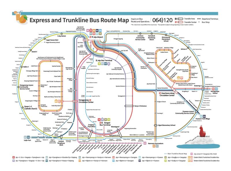 express and trunkline bus map